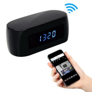 WiFi clock hidden camera with remote app viewing